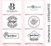 modern feminine logo with...   Shutterstock .eps vector #1445664935