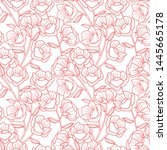 elegant feminine botanical...   Shutterstock .eps vector #1445665178