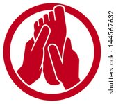 Foot Massage Symbol  Icon