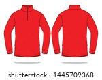 red long sleeve t shirt for... | Shutterstock .eps vector #1445709368