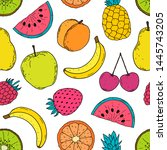 seamless pattern with colorful... | Shutterstock .eps vector #1445743205
