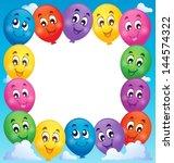 balloons theme frame 1   eps10... | Shutterstock .eps vector #144574322