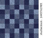 blue jeans gingham seamless... | Shutterstock .eps vector #1445761985