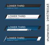lower third design template.... | Shutterstock .eps vector #1445780165