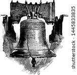 liberty bell vintage engraved... | Shutterstock .eps vector #1445833835