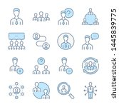 people  user and team related... | Shutterstock .eps vector #1445839775