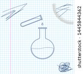 test tube and flask   chemical... | Shutterstock .eps vector #1445844362
