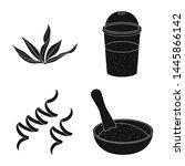 vector design of grass and... | Shutterstock .eps vector #1445866142
