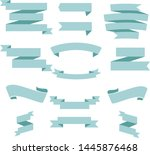 tosca blue ribbon set... | Shutterstock .eps vector #1445876468