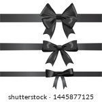 decorative black ribbon bows... | Shutterstock .eps vector #1445877125