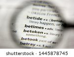 Small photo of The word or phrase Betimes in a dictionary
