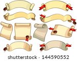 vector set  ancient paper... | Shutterstock .eps vector #144590552