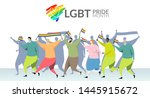 lgbt pride month concept.... | Shutterstock .eps vector #1445915672