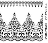 seamless vector pattern   lace... | Shutterstock .eps vector #1445923418
