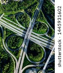 aerial view of highway and... | Shutterstock . vector #1445931602