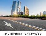 clean road of city   rapid city ... | Shutterstock . vector #144594368