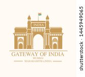 gate way of india mumbai...   Shutterstock .eps vector #1445949065