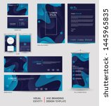modern stationery mock up set... | Shutterstock .eps vector #1445965835