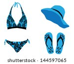 bathing suits and summer... | Shutterstock .eps vector #144597065