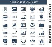 progress icons. trendy 25... | Shutterstock .eps vector #1445999615
