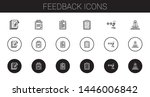 feedback icons set. collection...