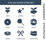 sugar icons. trendy 9 sugar... | Shutterstock .eps vector #1446006902