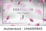 gift certificate vector... | Shutterstock .eps vector #1446009845