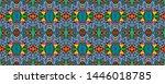 african repeat pattern....   Shutterstock . vector #1446018785
