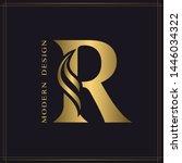 elegant capital letter r.... | Shutterstock .eps vector #1446034322