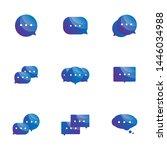 set of speech bubble icons...