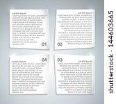 infographic paper design...   Shutterstock .eps vector #144603665