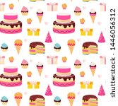 happy birthday colorful... | Shutterstock .eps vector #1446056312