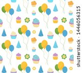 happy birthday colorful... | Shutterstock .eps vector #1446056315