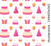 happy birthday colorful... | Shutterstock .eps vector #1446056342