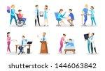 set of doctor and nurse... | Shutterstock . vector #1446063842