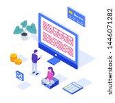 online tax payment concept. web ... | Shutterstock .eps vector #1446071282