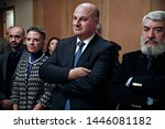 Small photo of Member of the Greek Parliament Costas Tsiaras attends in event which organised by Greeks which live Brussels, Belgium on Nov. 29, 2016