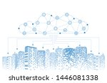 communication and networking in ... | Shutterstock .eps vector #1446081338