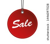red round sale hanging label... | Shutterstock . vector #1446097028