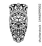 tattoo sketch maori style for... | Shutterstock .eps vector #1446099002