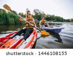 Couple Together Kayaking On Th...