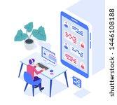 concept of call center....   Shutterstock .eps vector #1446108188