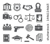 law icons set on white... | Shutterstock .eps vector #1446114665