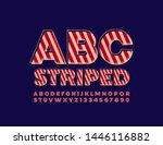 vector striped alphabet.... | Shutterstock .eps vector #1446116882