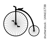 Penny Farthing. Silhouette Of...