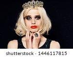 crossdresser in a crown wig... | Shutterstock . vector #1446117815