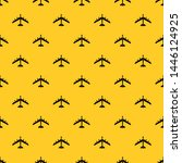 Armed fighter jet pattern seamless vector repeat geometric yellow for any design