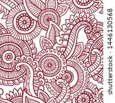 floral seamless pattern. doodle ... | Shutterstock .eps vector #1446130568