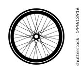 silhouette of a bicycle wheel.... | Shutterstock .eps vector #144613916