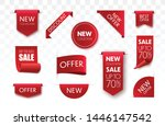 price tags vector collection.... | Shutterstock .eps vector #1446147542